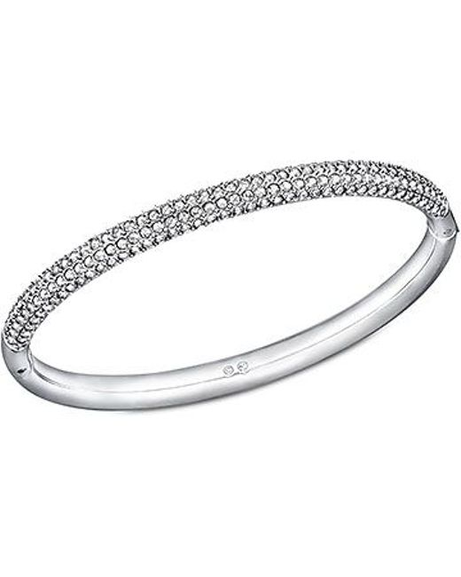 Swarovski | Metallic Stone Mini Bangle | Lyst