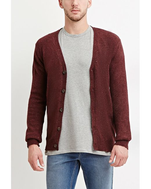 Forever 21 | Purple Classic Wool-blend Cardigan for Men | Lyst