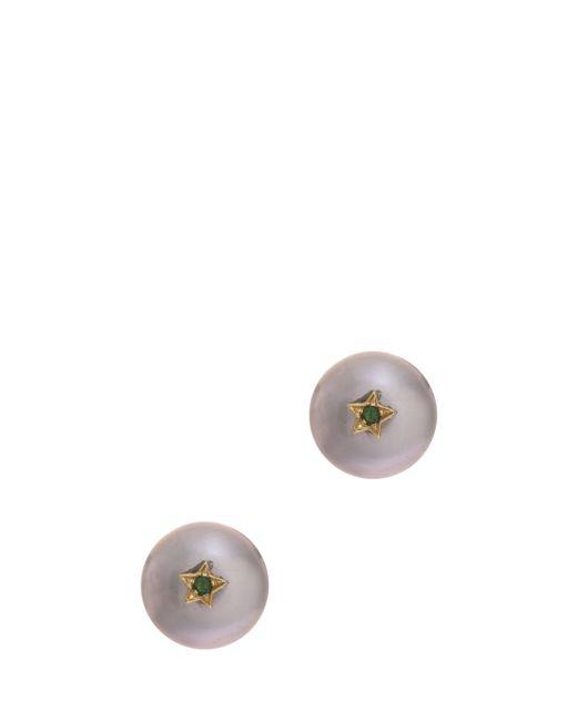 Carolina Bucci   Metallic Single Pearl Stud Earring   Lyst