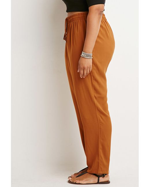 Forever 21 | Orange Plus Size Classic Drawstring Pants | Lyst