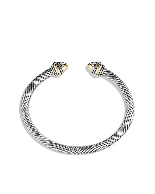 David Yurman | Metallic Cable Classic Bracelet With 14k Gold, 5mm | Lyst