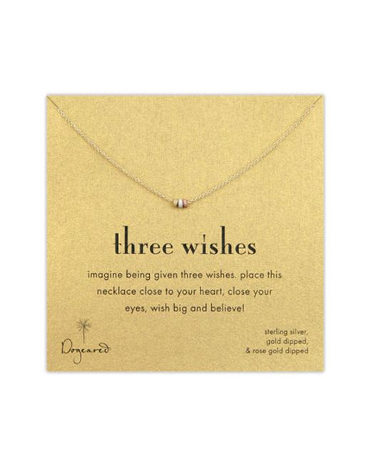 Dogeared | Multicolor Three Wishes Pendant Necklace | Lyst
