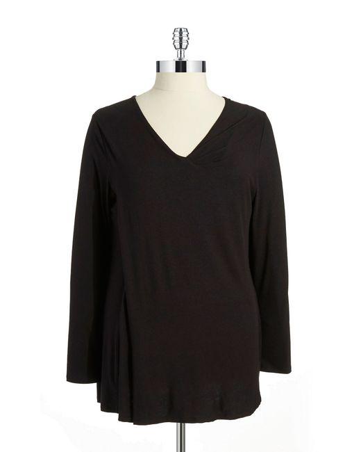 Lyssé | Black V Neck Top With Stretch Lining | Lyst