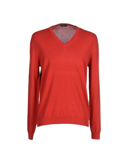 Zanone | Red Sweater for Men | Lyst