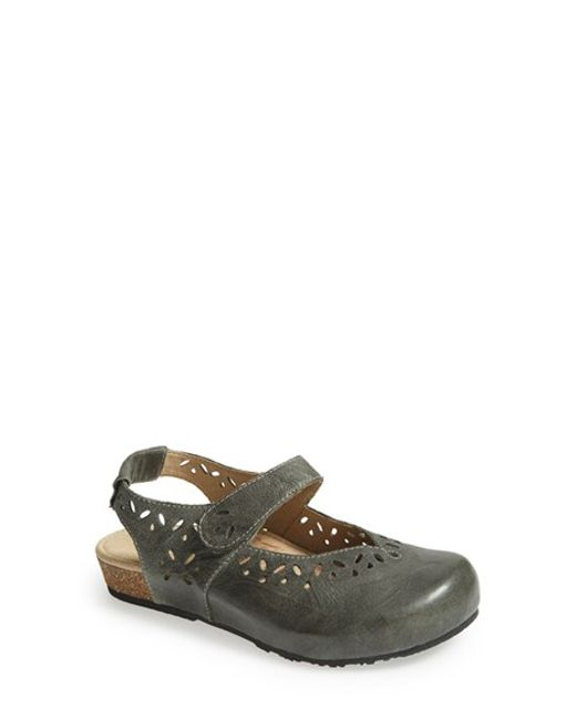 Aetrex | Gray 'cheryl' Mary Jane Flat | Lyst