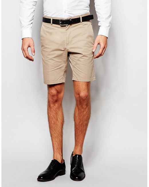 Vito Cotton Formal Shorts In Beige For Men (Stone) | Lyst