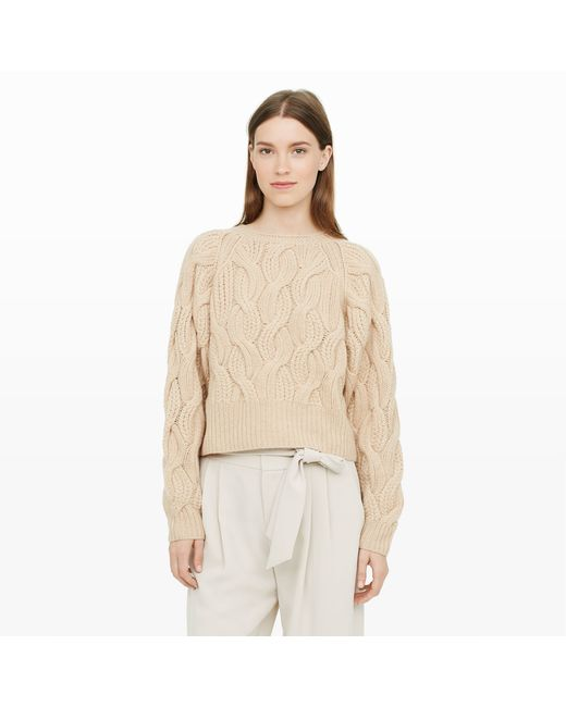 Club Monaco | Natural Idris Cashmere Cable-knit | Lyst