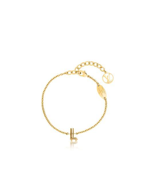 Louis Vuitton   Metallic Lv & Me Bracelet, Letter L   Lyst