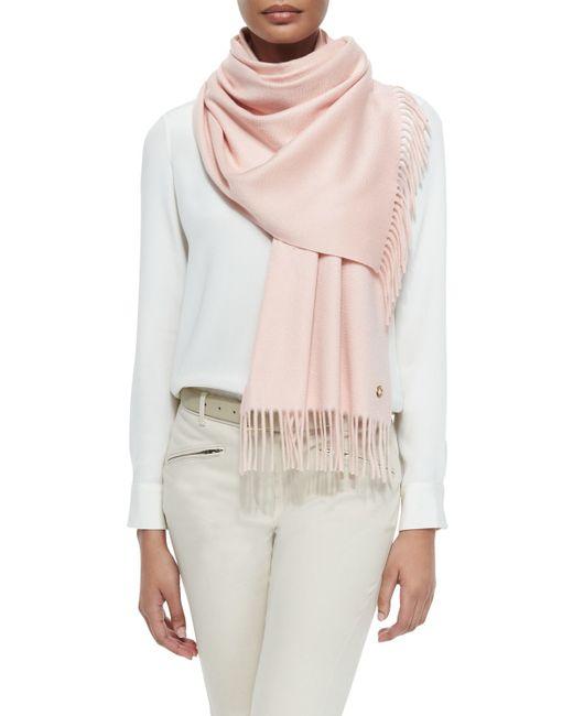 Loro Piana | Pink Sciarpa Grande Cashmere Fringe-trim Scarf | Lyst