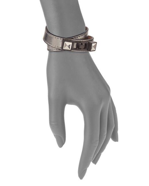 Proenza Schouler   Ps11 Metallic Leather Double-wrap Bracelet   Lyst