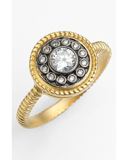 Freida Rothman | Metallic 'hamptons' Nautical Button Ring | Lyst