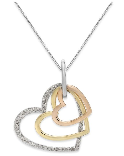 Macy's Diamond Tritone Triple Heart Pendant Necklace In. Crescent Necklace. Panerai Watches. Estate Jewelry. Electrician Wedding Rings. 3d Printed Pendant. Konstantino Bracelet. Coated Chains. Custom Watches