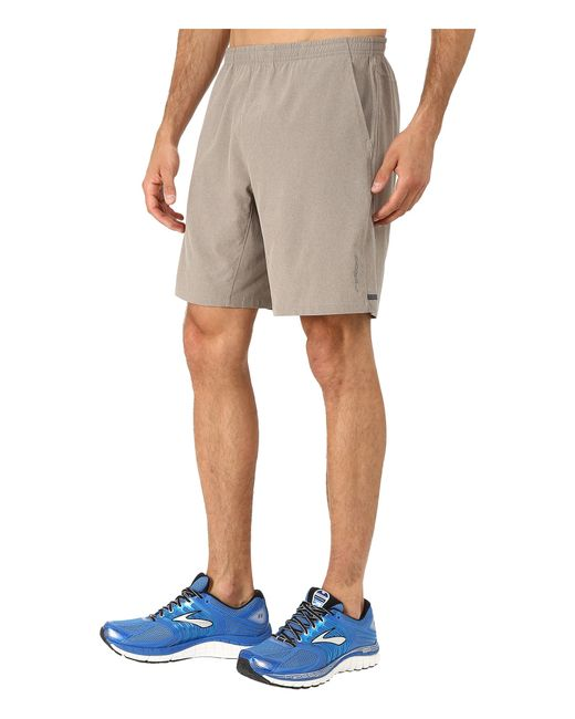 "Brooks | Gray Rush 9"" Shorts for Men 