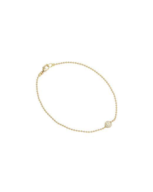 Lagos | Metallic 18k Gold And Diamond Bracelet | Lyst