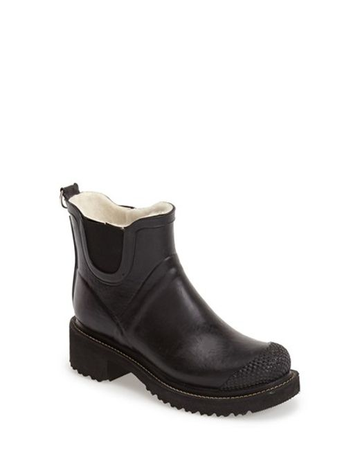 Ilse Jacobsen | Black Hornbaek 'rub 47' Short Waterproof Rain Boot | Lyst