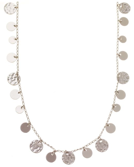 Nine West   Metallic Circle Drop Long Necklace   Lyst