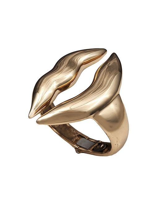 Bernard Delettrez | Metallic Large Lips Bronze Cuff | Lyst