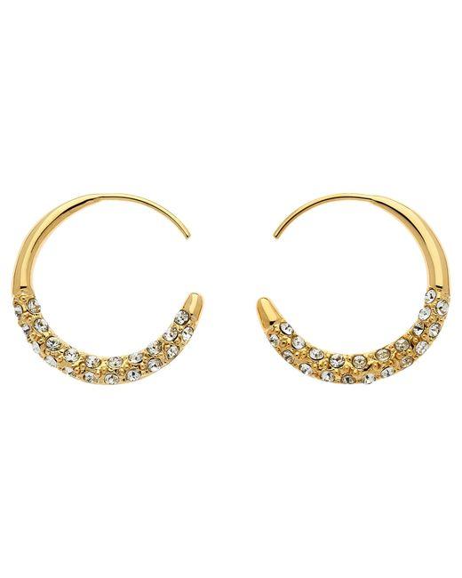 Melissa Odabash   Metallic Swarovski Crystal Orbit Hoop Earrings   Lyst