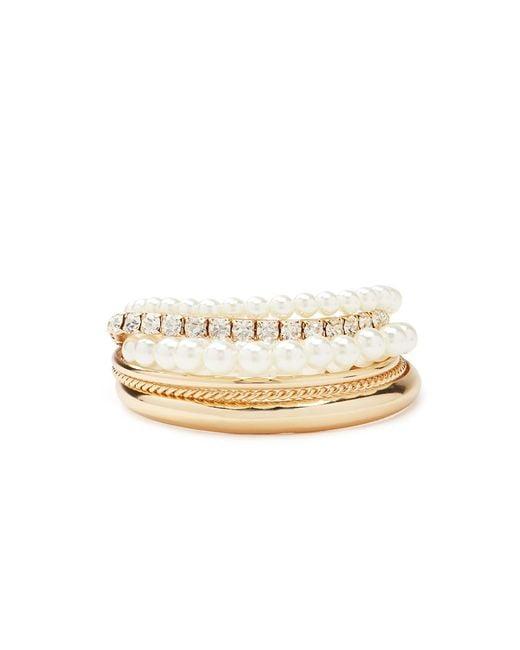 Forever 21 | Metallic Faux Pearl Bracelet Set | Lyst