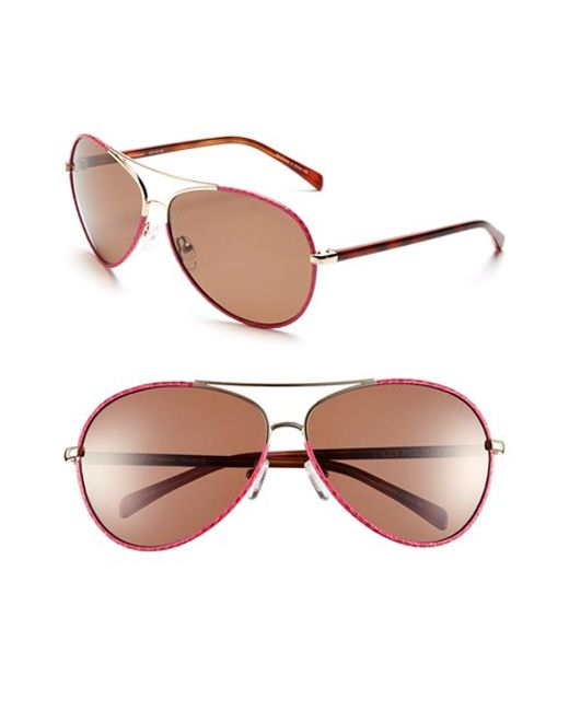 Lilly Pulitzer | Red Lilly Pulitzer 'parrish' 63mm Polarized Sunglasses | Lyst