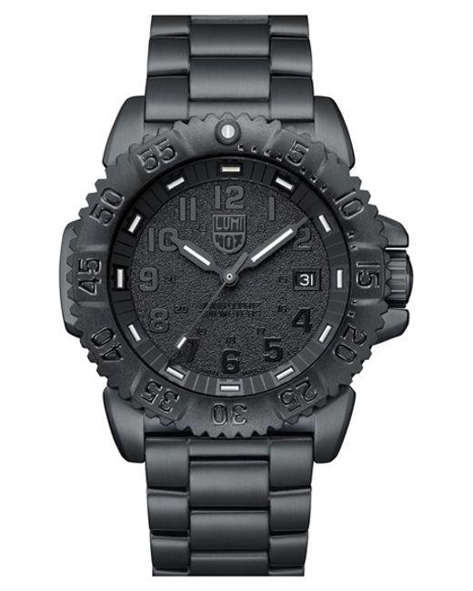 Luminox | Black 'sea - Steel Colormark' Bracelet Watch for Men | Lyst