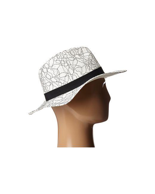 BCBGMAXAZRIA | White Lace Overlay Hat | Lyst