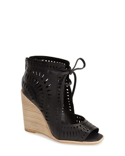 Jeffrey Campbell | Red Rodillo Leather Wedge Sandals | Lyst