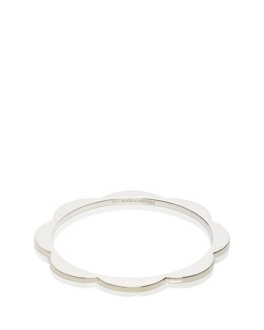Kate Spade | Metallic Sweetheart Scallops Bangle | Lyst