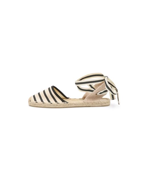 Soludos | White Striped Espadrille Sandals | Lyst