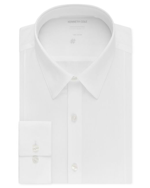 Kenneth Cole Reaction | White Extra Slim-fit Solid Dress Shirt for Men | Lyst
