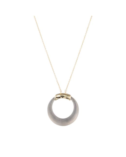 Alexis Bittar | Gray Gold Circle Necklace You Might Also Like | Lyst
