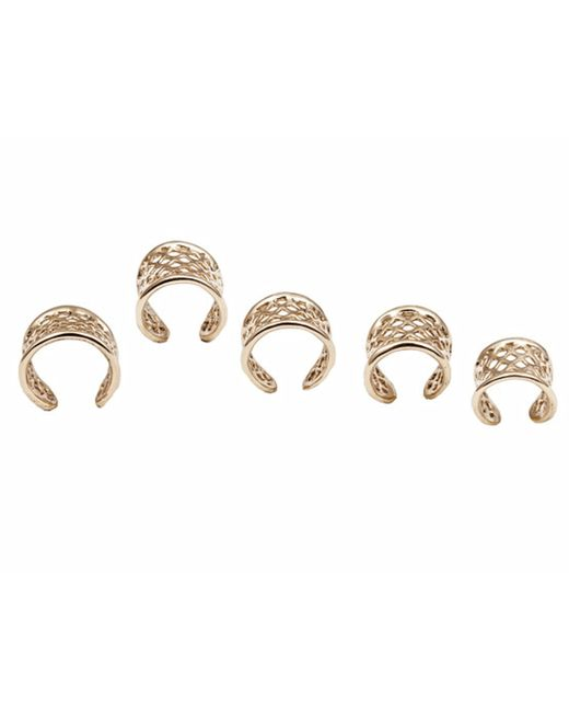 Bernard Delettrez | Metallic Set Of 5 Bronze Cage Rings | Lyst