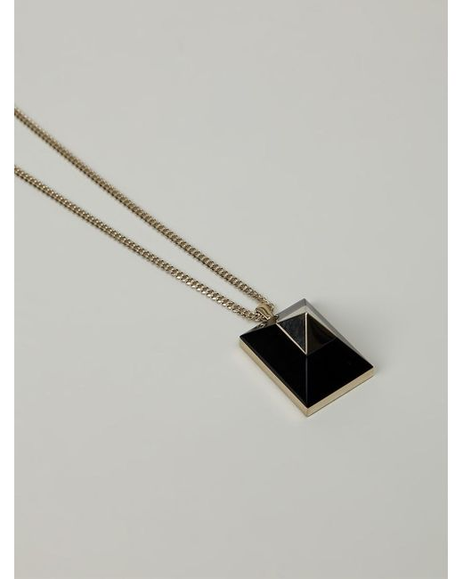 Givenchy | Black Stud Pendant Necklace | Lyst
