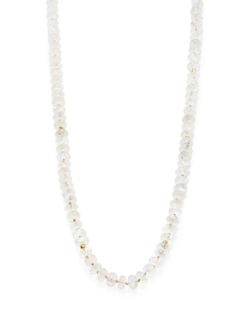 Lena Skadegard | White Meli Moonstone & 18k Yellow Gold Beaded Strand Necklace | Lyst