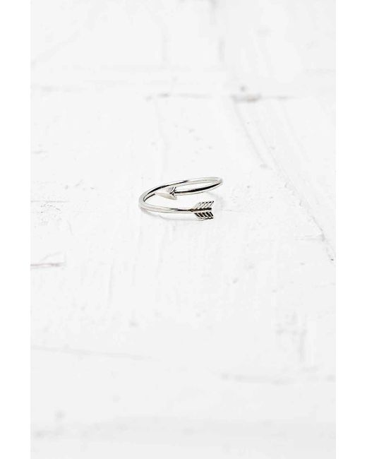 Urban Outfitters | Metallic Silver Arrow Ring | Lyst