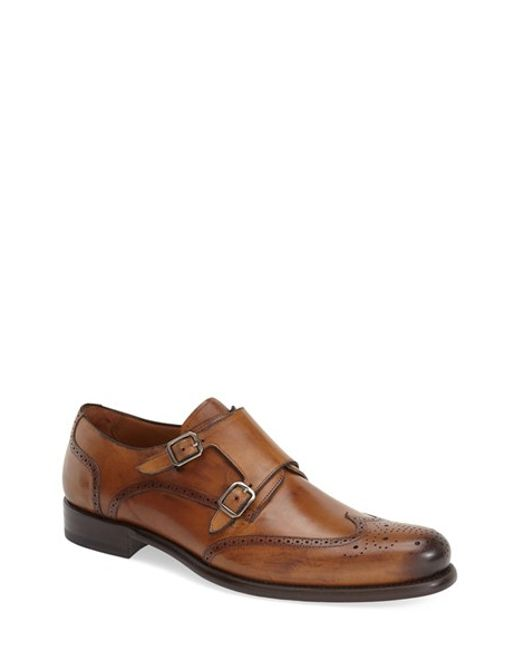 Mezlan | Brown 'coruna' Double Monk Strap Shoe for Men | Lyst