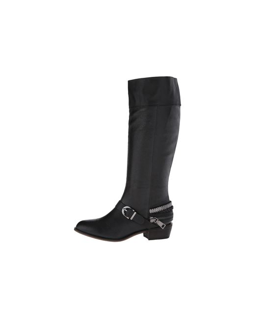 Chinese Laundry | Black Solar Knee High Buckled Boot | Lyst