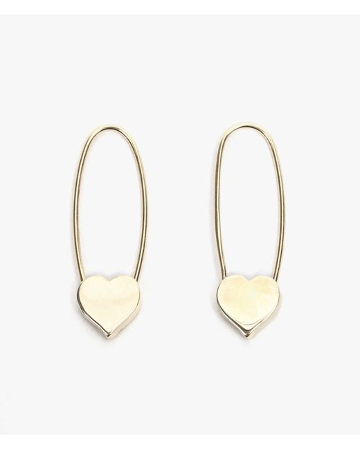 Loren Stewart | Metallic Heart Safety Pin Earrings P | Lyst