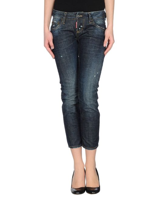 DSquared² | Blue 'cool Girl' Cropped Jeans | Lyst