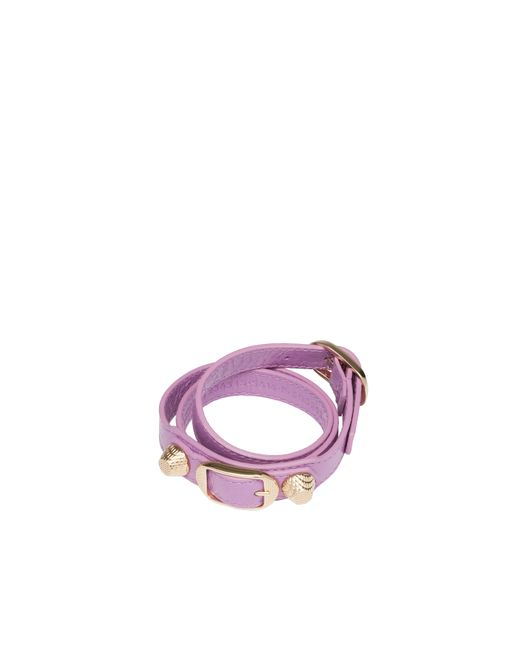Balenciaga | Purple Giant Gold Bracelet Triple Tour | Lyst