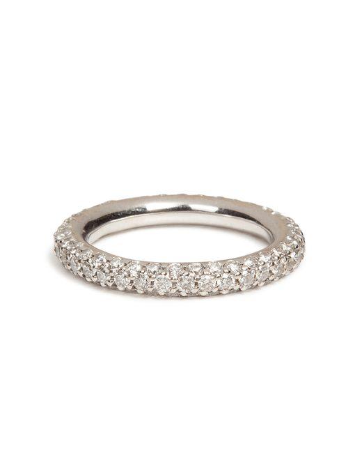 Carolina Bucci | 18k White Gold 1885 Chunky Ring With Pave Diamonds - Silver | Lyst
