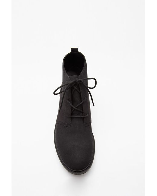 Forever 21 | Black Lug Sole Ankle Booties | Lyst