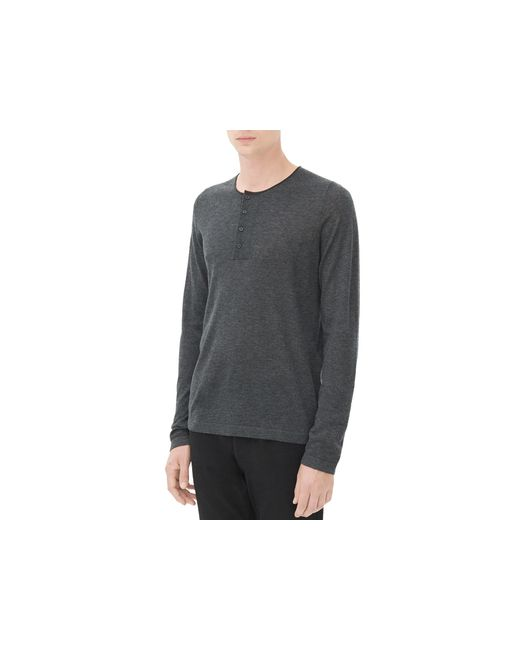 Sandro | Gray Low Henley Sweater for Men | Lyst