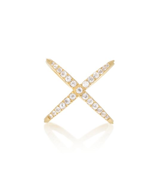 Elizabeth and James   Metallic Pave Windrose Ring   Lyst