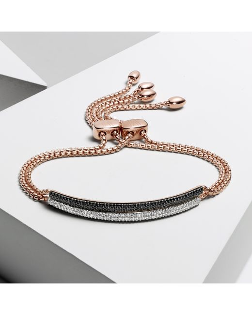 Monica Vinader | Metallic Stellar Diamond Mini Bar Bracelet | Lyst