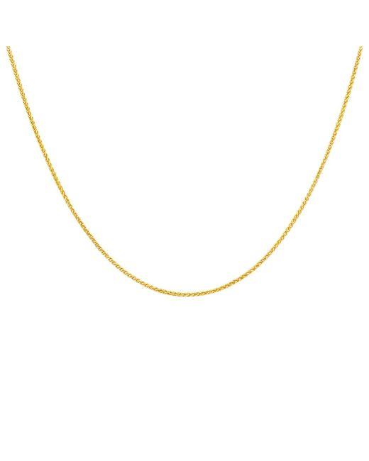 Ib&b   18ct Yellow Gold Spiga Chain Necklace   Lyst
