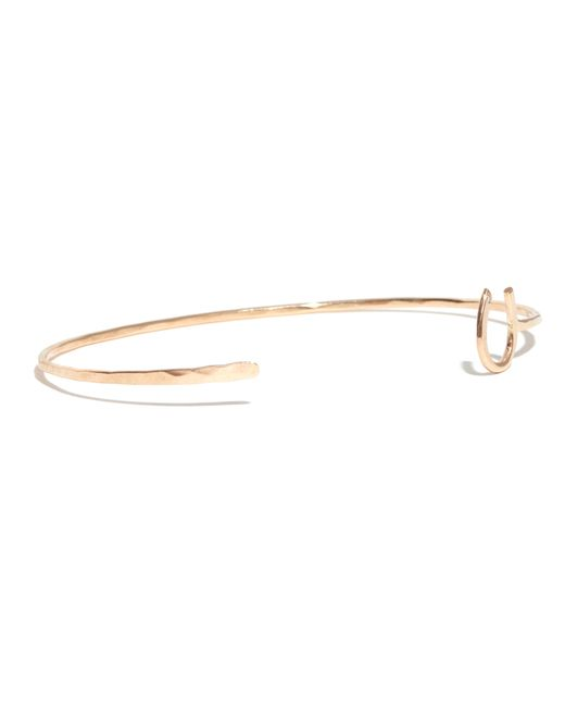 Melissa Joy Manning | Metallic Gold Horseshoe Cuff With White Diamond | Lyst