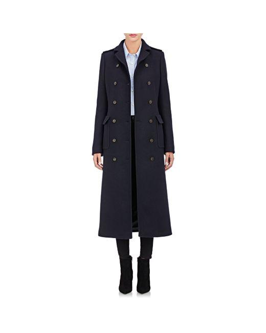 Barneys New York | Black Military Long Coat | Lyst