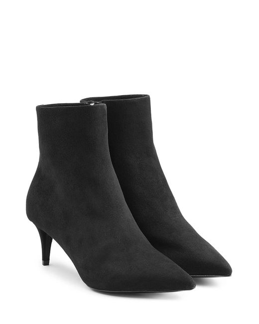 wang suede ankle boots black in black lyst