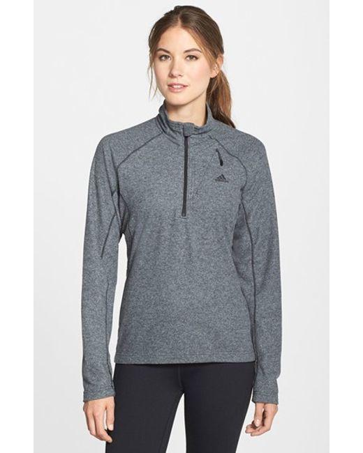 Adidas Originals | Black 'reachout' Half Zip Hiking Top | Lyst